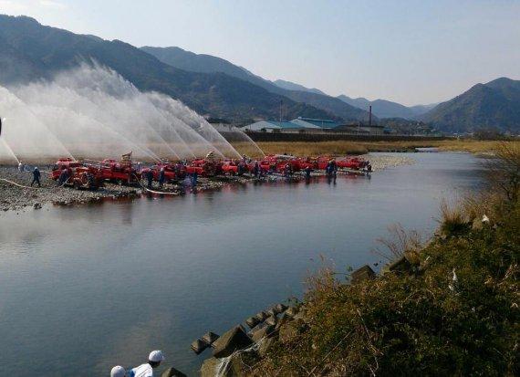 勝浦町消防団出初式